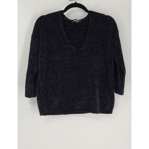 Express Chenille V-neck Drop Sleeve Sweater - XS